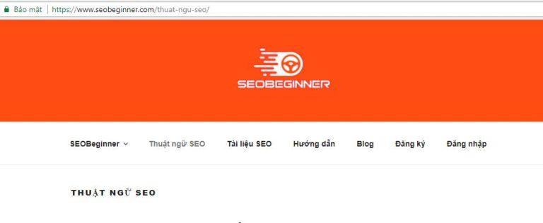 Internal Link đặt ở thanh menu đầu trang (header)